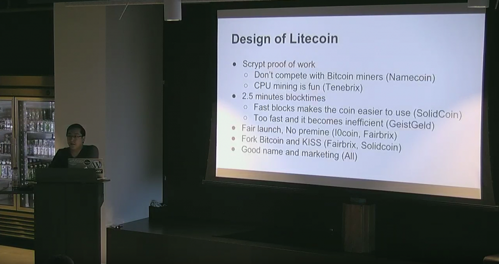 Charlie Lee Presenting at Coinbase in San Francisco