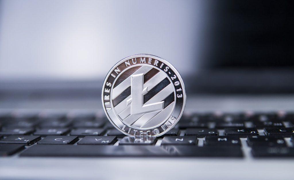 Litecoin Standing on a Keyboard