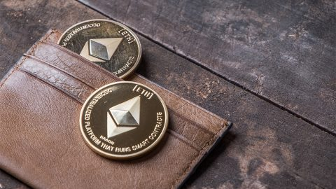 Ethereum coins in real wallet