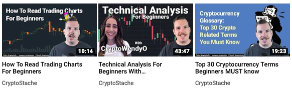 cryptostache youtube channel
