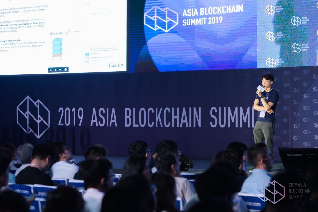michael ou talks at asia blockchain summit