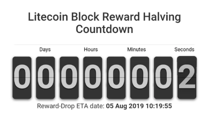 litecoin block reward halving
