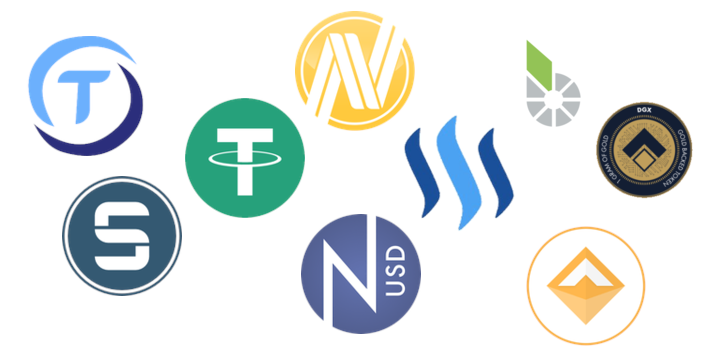 collection of stablecoin logos